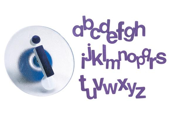 Colorations® Easy-Grip Stampers, Lowercase Alphabet - Set of 26