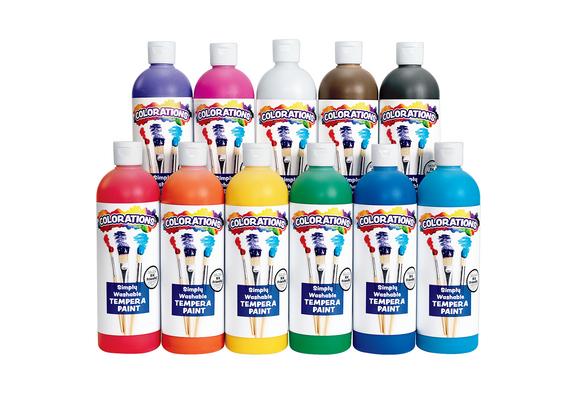 Colorations® Simply Washable Tempera Paint - 16 oz. Set of 11 Colors