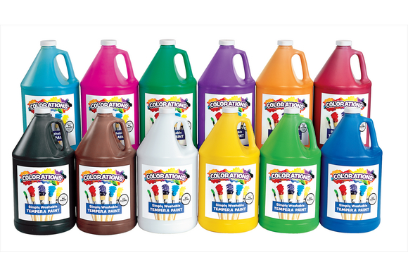 Colorations® Simply Washable Tempera Paint - Gallon, Set of 11 Colors