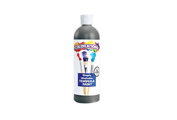 Colorations® Black Simply Washable Tempera, 16oz.