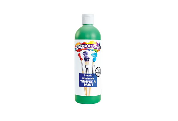 Colorations® Green Simply Washable Tempera, 16oz.
