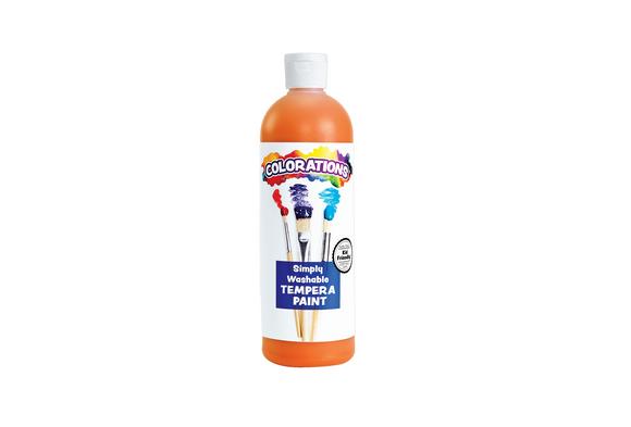 Colorations® Orange Simply Washable Tempera, 16oz.