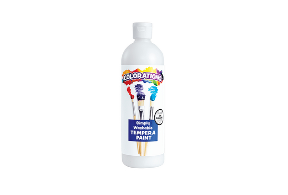 White Colorations® Simply Washable Tempera, 16oz.