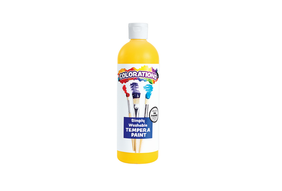 Colorations® Yellow Simply Washable Tempera, 16oz.