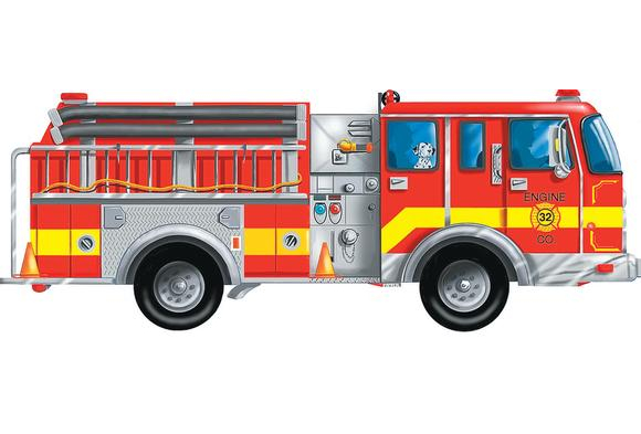 Giant Fire Truck Floor Puzzle
