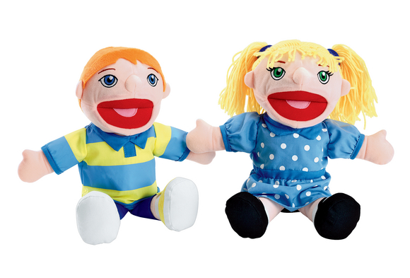 Excellerations® Caucasian Girl & Boy Puppet Pair