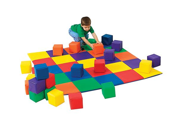 Crawley Mat with 12 Toddler Cubes