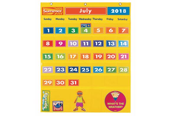 Excellerations® Classroom Calendar & Weather Pocket Chart