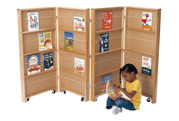 2 Section Double-Sided Library Bookcase