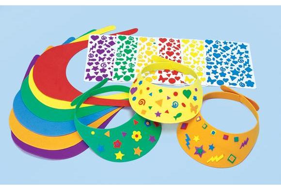 Colorations® Fun Foam Visors Craft Kit - Kit for 12