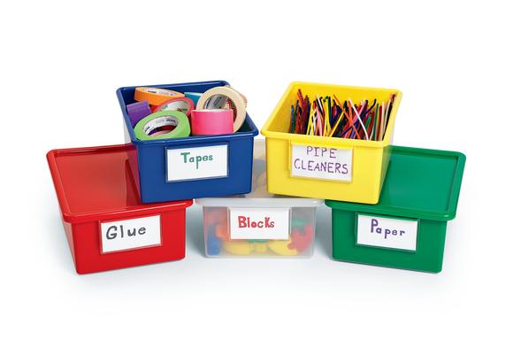 Blue Easy-Label Teaching Bin Lid