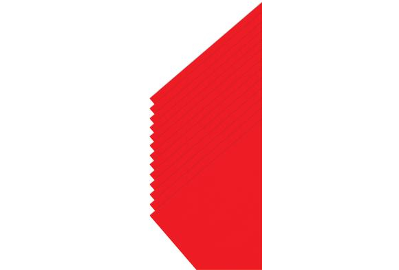 Tru-Ray® Red Sulphite Paper, 9