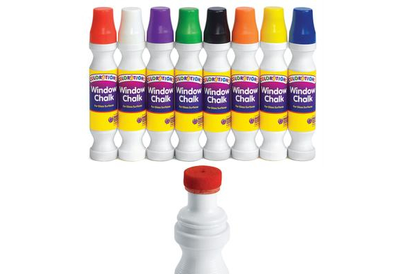Colorations® Window Chalk - Set of 8