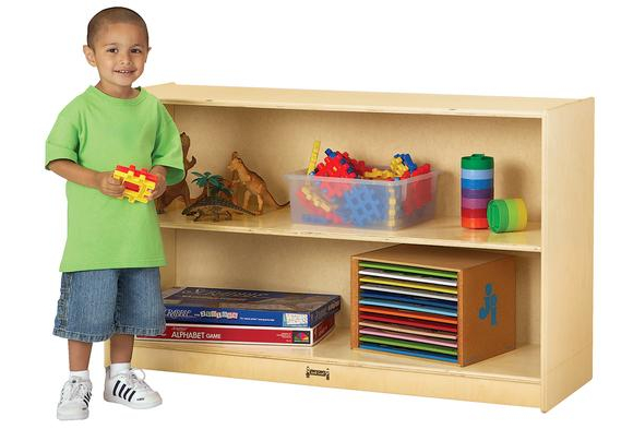 Jonti-Craft® Mobile Fixed Shelf Storage