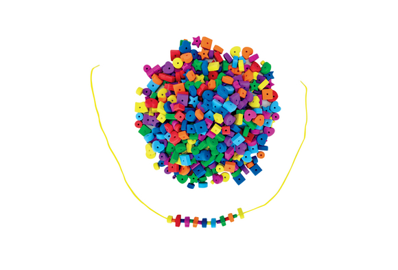 Colorations® Jumbo Fun Shapes Foam Beads - 500 Pieces
