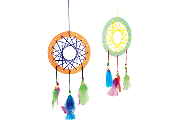 Colorations® Native American Dream Catcher Craft Kit - Kit for 12