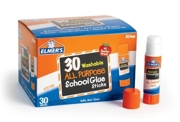 Elmer's® .24 oz. Clear Glue Sticks - Set of 30