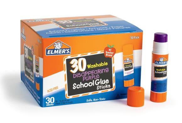 Elmer's® .24 oz. Purple Glue Stick - Set of 30