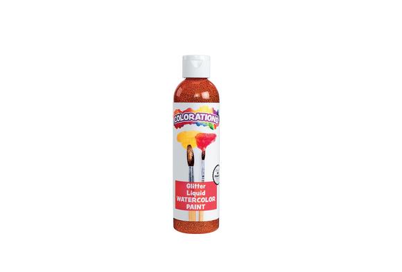Colorations® Glitter Liquid Watercolor™, Orange - 8 oz.