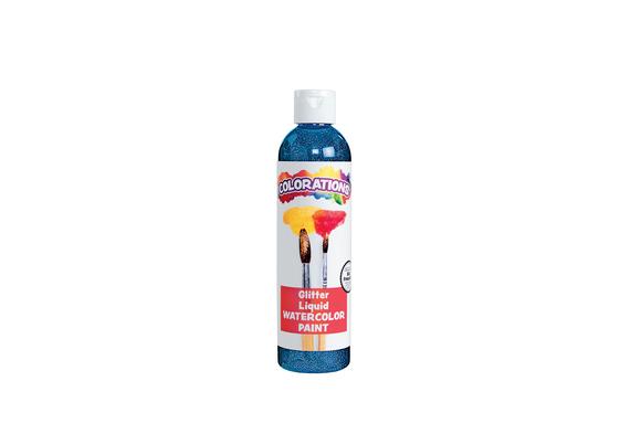 Colorations® Glitter Liquid Watercolor™, Blue - 8 oz.
