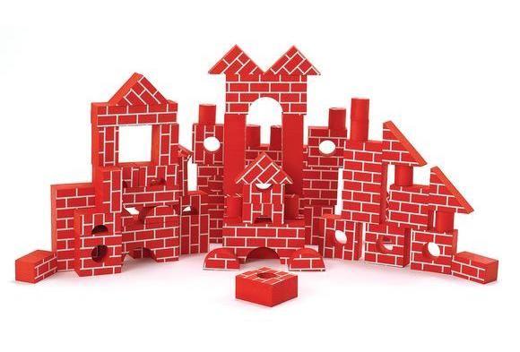 Foam Brick Blocks - Set of 68