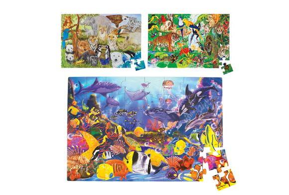 Jumbo Animal Floor Puzzles - Set of 3