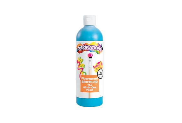 BioColor® Paint, Fluorescent Turquoise - 16 oz.