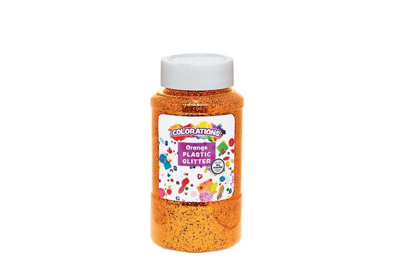 Colorations® Extra-Safe Plastic Glitter, Orange - 1 lb.
