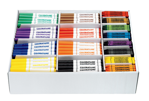 Colorations® Marker & Crayon Combo Pack - 400 Pieces