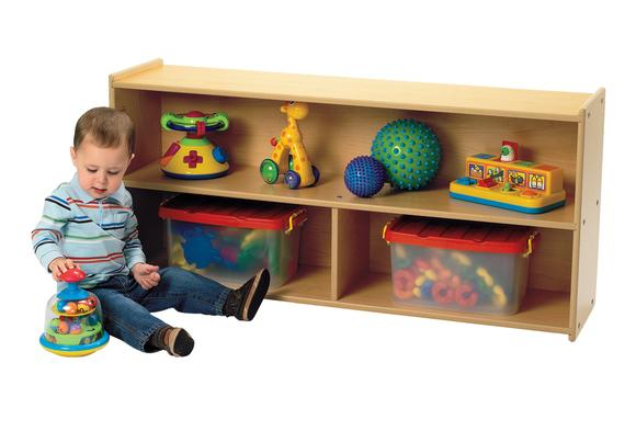 Angeles Value LineTM Toddler Divided Shelf Storage