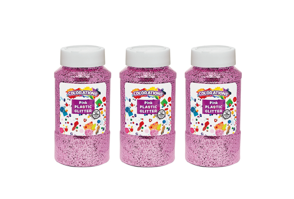 Colorations® Extra-Safe Plastic Glitter, Pink - 3 lbs.