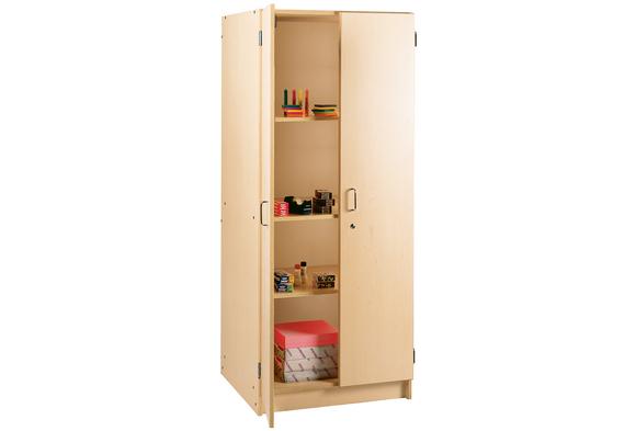 Locking Tall Laminate Storage - Maple