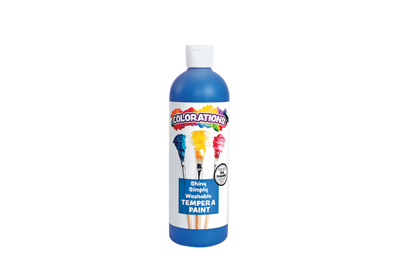Colorations® Simply Shiny Washable Tempera, Blue - 16 oz.