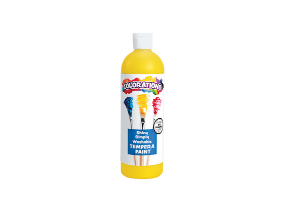 Colorations® Simply Shiny Washable Tempera, Yellow - 16 oz.