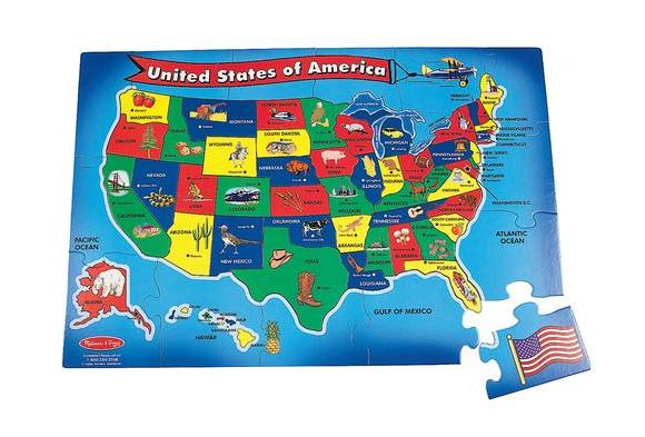 USA Floor Puzzle