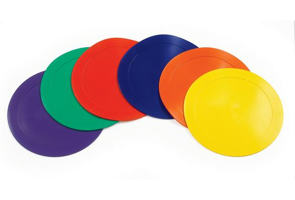 Poly-Vinyl Spot Markers - Set of 6