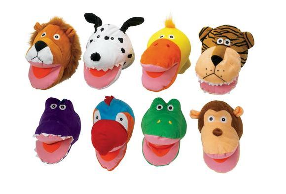 Big Mouth Animal Puppets - Set of 8