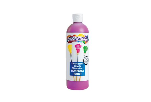 Colorations® Simply Washable Tempera Paint, Fluorescent Purple - 16 oz.