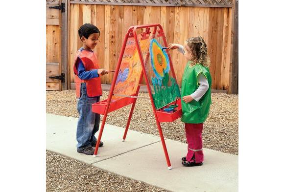 Colorations® 2-Way Indoor/Outdoor Adjustable Acrylic Panel Easel