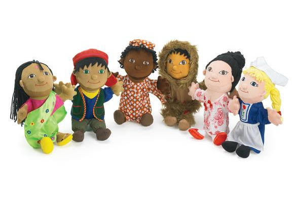 Excellerations® Around The World Puppets - Set of 6