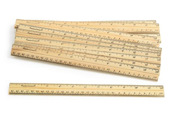 Wooden Rulers - Set of 12