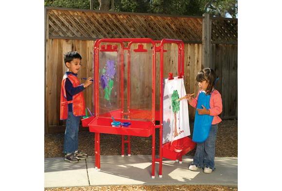 Colorations® 4-Way Indoor/Outdoor Adjustable Acrylic Panel Easel