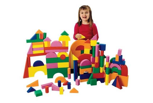 Foam Unit Floor Blocks - 126 Pieces