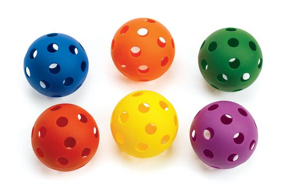 Lightweight Plastic Balls - Set of 6