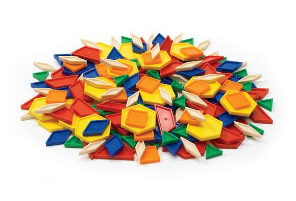 Excellerations® Plastic Pattern Blocks - 250 Pieces