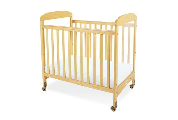Serenity™ Adjustable Clear View Crib Natural