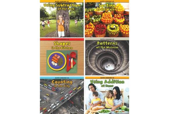 Math Around Us Books - 6 Titles