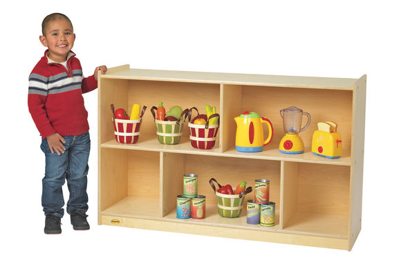 Value Line™ Birch Mobile Divided Storage