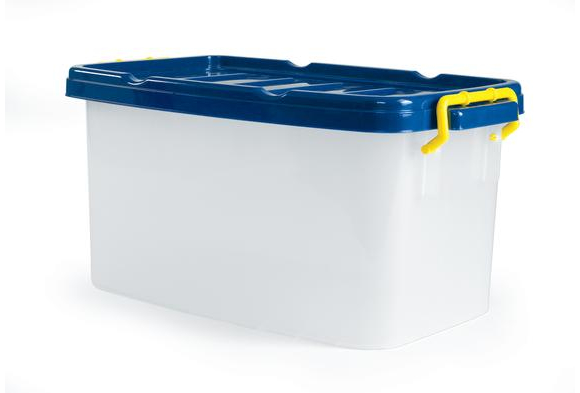 Storage Bin with Blue Lid