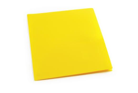 Yellow Plastic Pocket Folder